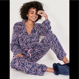Hush Liv Zebra Mark Cotton Flannel Pyjama Set